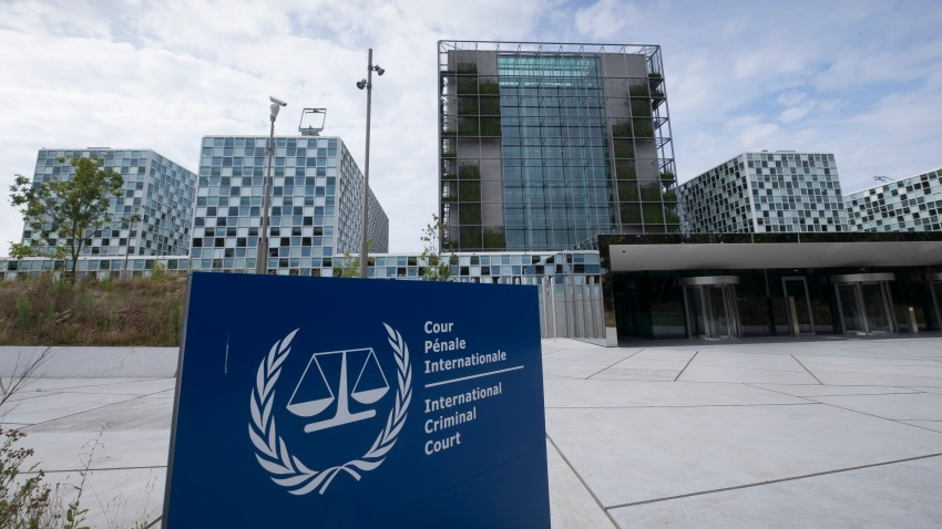 In this July 30, 2016, file photo, the new International Criminal Court building is seen in The Hague, Netherlands.