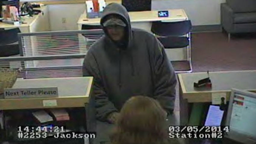 Jackson NO ID Bank Robber