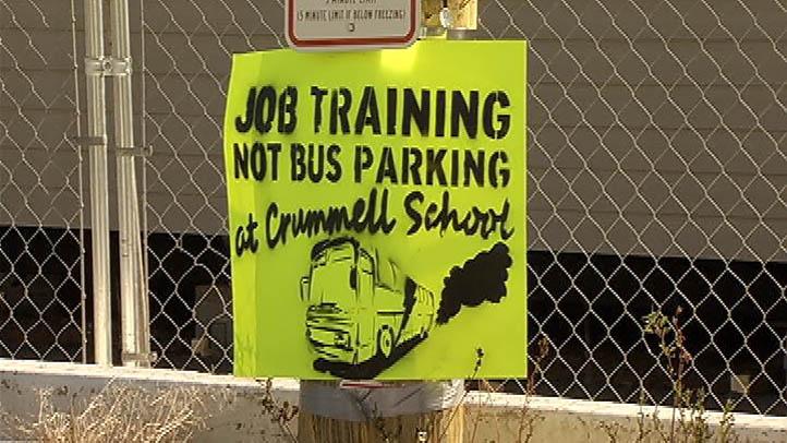 Job Training Not Bus Parking at Crummell School