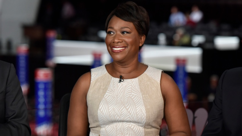 """In this July 17, 2016, file photo, Joy-Ann Reid, host of """"AM Joy,"""" appears on """"Meet the Press"""" in Cleveland, OH."""