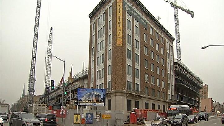 Marriott Marquis Convention Center headquarters hotel construction site