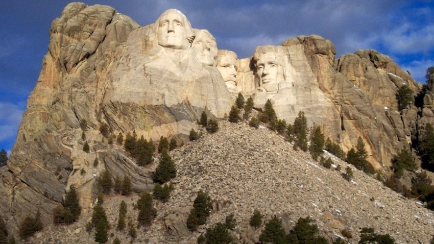 This undated photo provided by the Mount Rushmore National Memorial shows the memorial in western South Dakota.