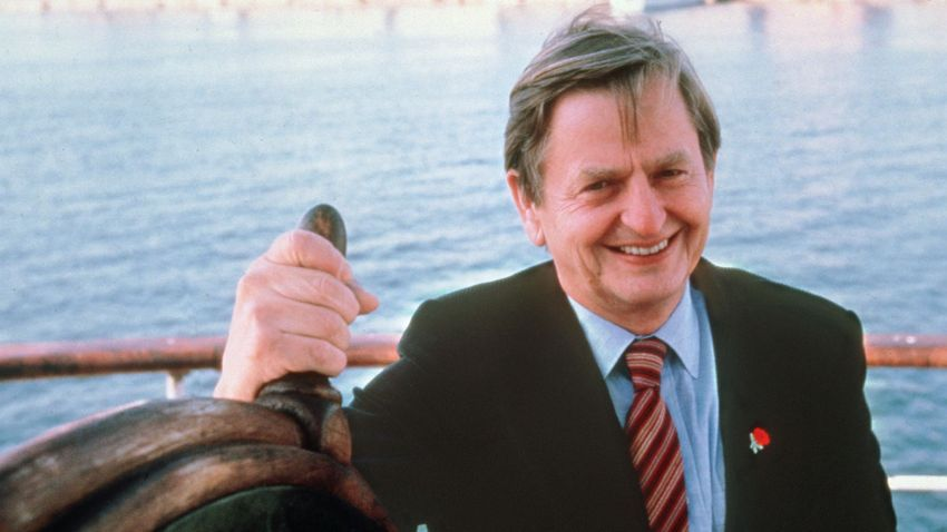 Portrait dated of the eighties of Swedish Prime Minister Olof Palme in Stockholm. Olof Palme was killed Feb. 28, 1986, by a lone gunner in central Stockholm.