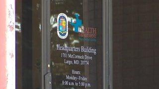 Prince George's County Health Department Door