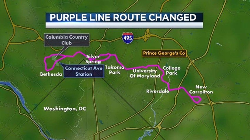 Purple Line Route Changed 092613