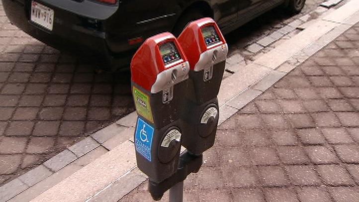 Red Top Parking Meters
