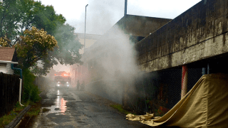 Scene of car fire