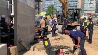 Construction accident scene