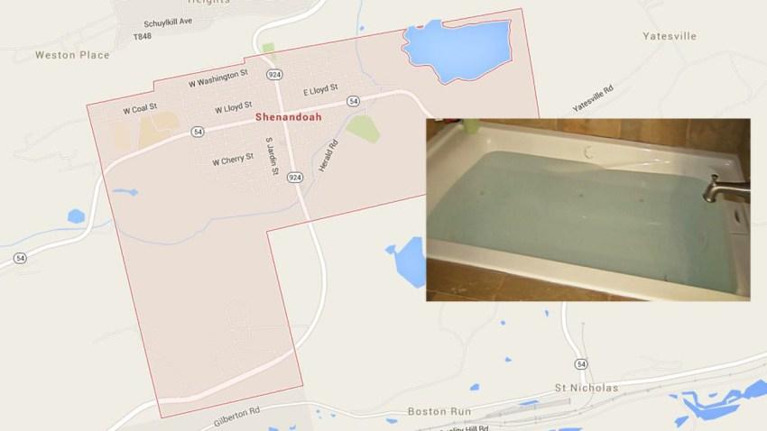 Shenandoah Poconos bathtub Laundry