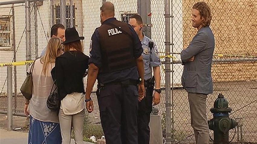 TJ Miller at With Police at Crime Scene