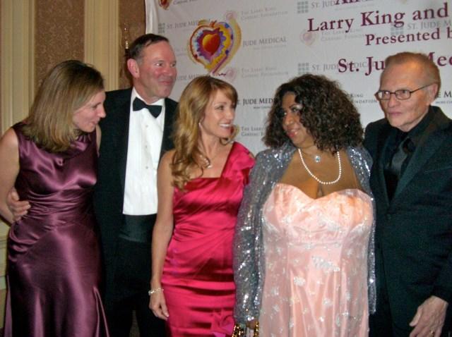 The Donald Grahams Jane Seymour Aretha Larry King