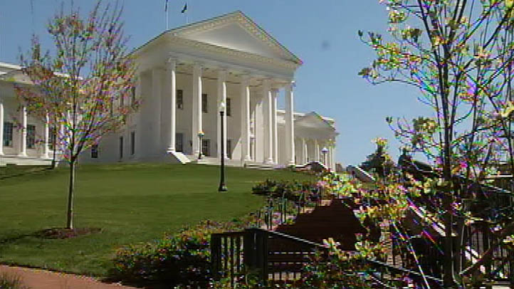 The state capitol building in Richmond, Virginia.