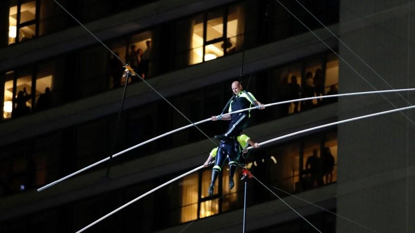 Times Square Wire Walk