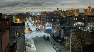 FIle photo of near-empty streets in Brooklyn, New York