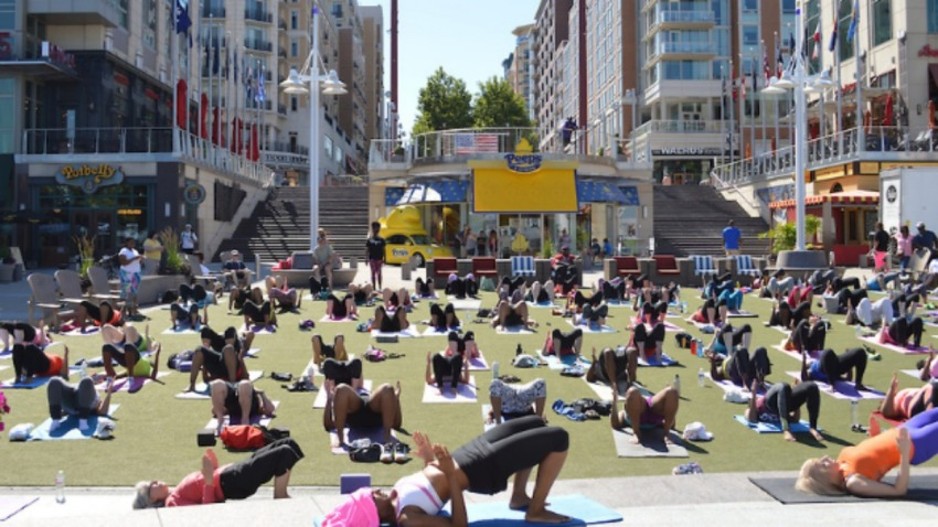 Yoga at National Harbor