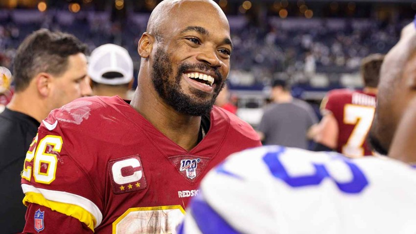 Redskins player Adrian Peterson