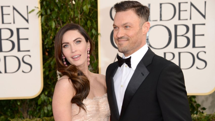 In this Jan. 13, 2013, file photo, actress Megan Fox and actor Brian Austin Green arrive at the 70th Annual Golden Globe Awards held at The Beverly Hilton Hotel in Beverly Hills, California.