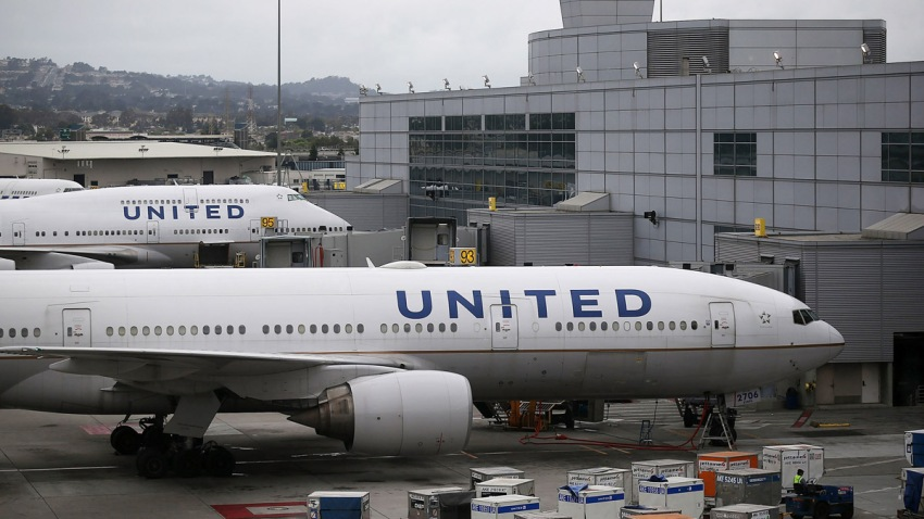 In this file photo, United Airlines planes sit on the tarmac at San Francisco International Airport on July 8, 2015 in San Francisco, California.