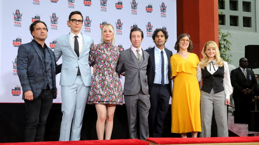 """The Cast of """"The Big Bang Theory"""" Hand and Footprint Ceremony"""