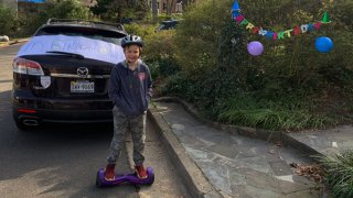 A neighborhood in Alexandria celebrated Owen Wiser's 10th birthday at a social distance after his birthday party was canceled as a result of the coronavirus outbreak.