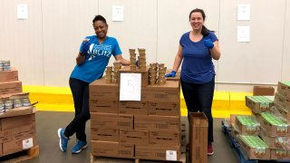 Volunteers at Capital Area Food Bank
