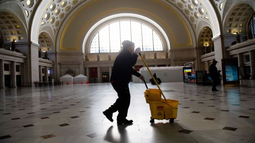 cleaning union station