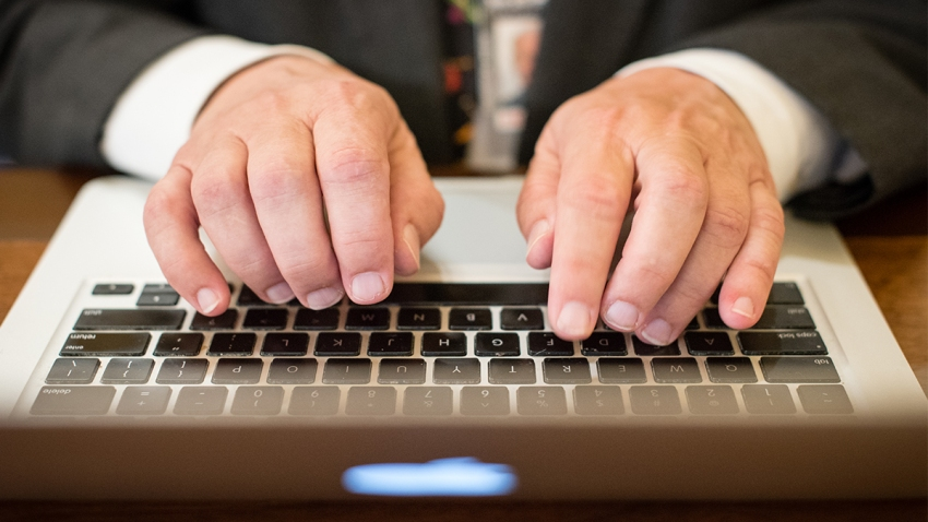 computer typing getty images