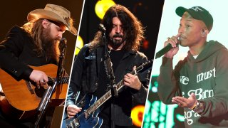 Chris Stapleton, Dave Grohl and Pharrell Williams
