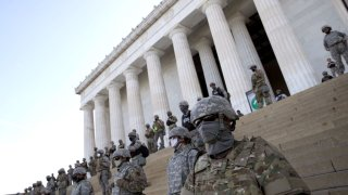 DC National Guard at Lincoln Monument