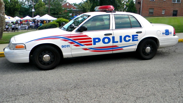 A DC police car