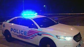 A DC police cruiser
