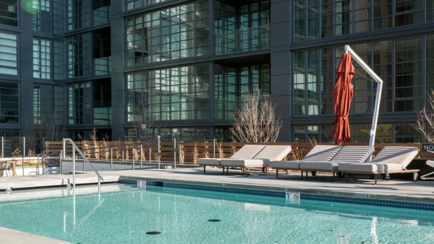 Pool at luxury condo building in DC