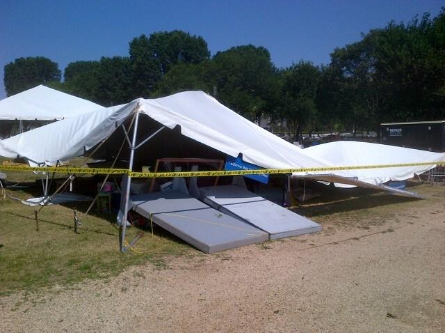 folklife festival tent damage