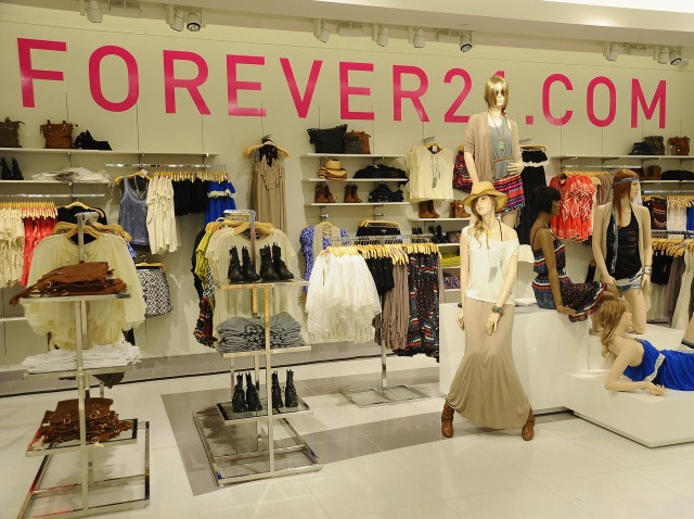 forever 21 interior close up