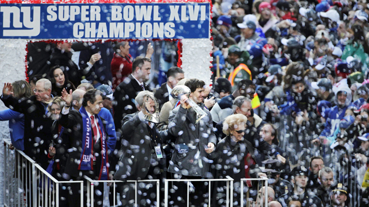 Super Bowl NYC Parade Football