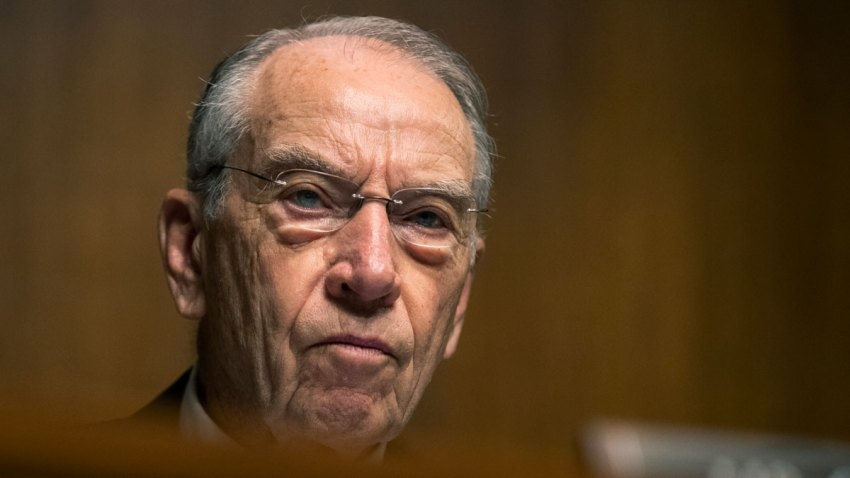 In this June 26, 2019, file photo, Senate Judiciary Committee member Chuck Grassley, R-Iowa, speaks during a Senate Judiciary Committee nominations hearing on Capitol Hill in Washington.
