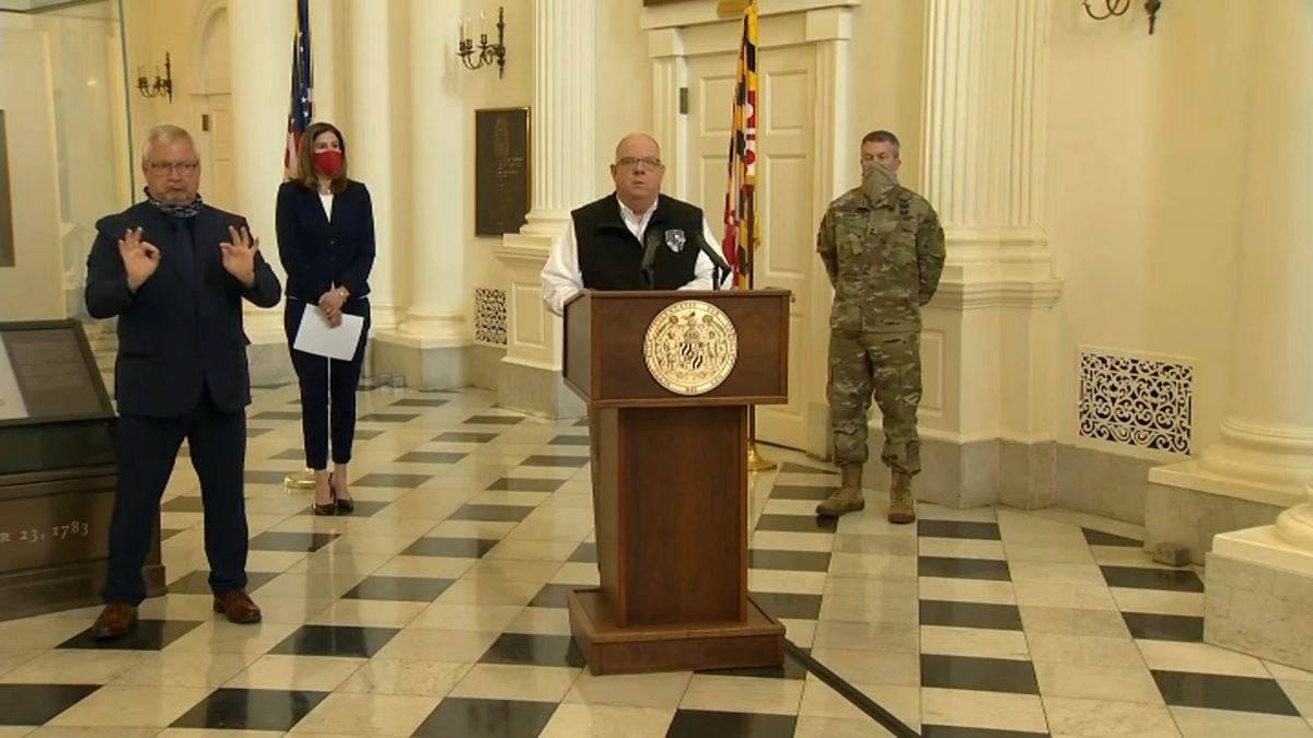 Maryland Governor Speaks After State Emerges As Coronavirus Hot Spot