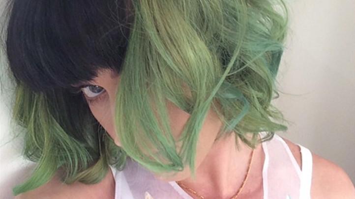 katy-perry slime green hair