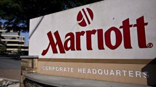 marriot bethesda headquarters sign