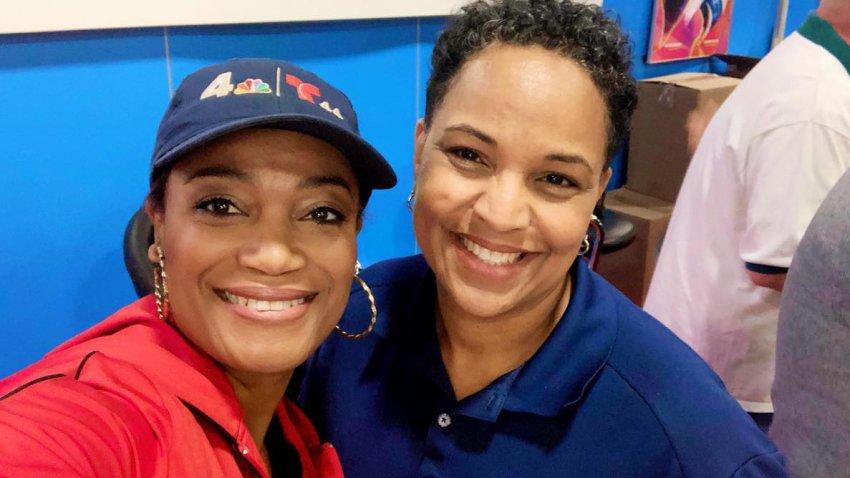 NBC4 reporter Molette Green and photographer Irene Johnson