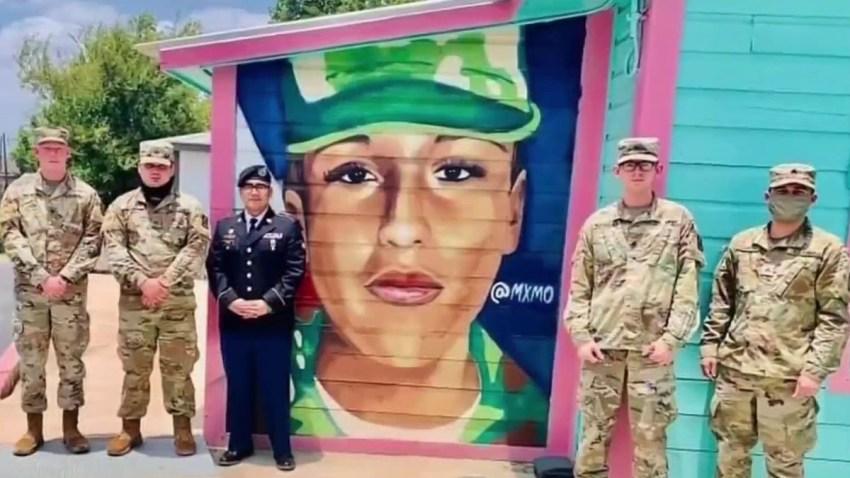 A mural for Vanessa Guillén.
