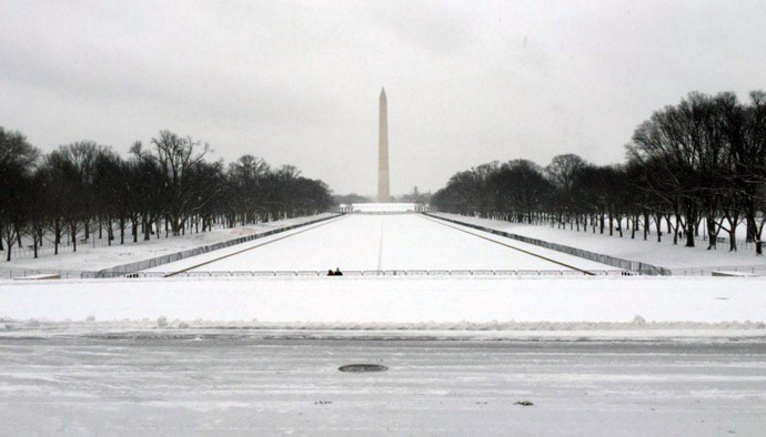 national mall dc snow