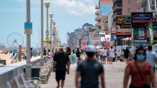 Ocean City boardwalk crowds