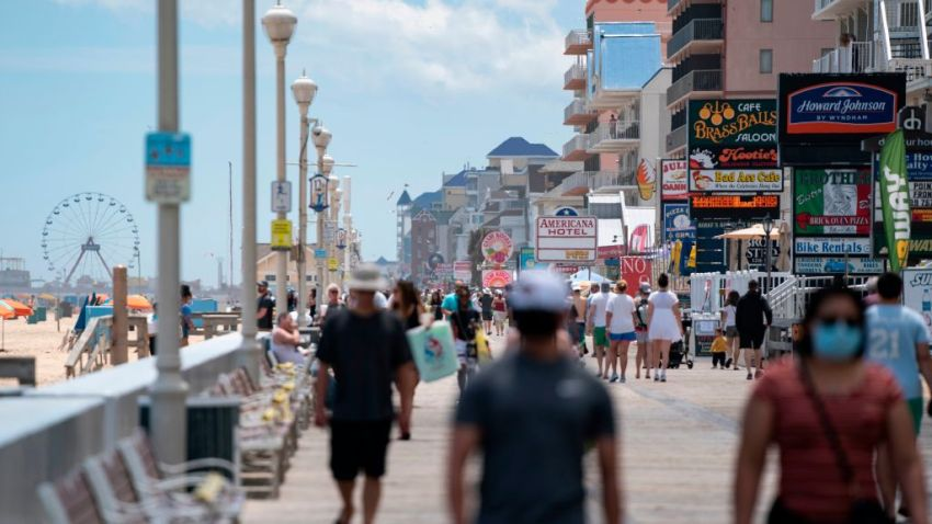 Ocean City boardwalk crowds