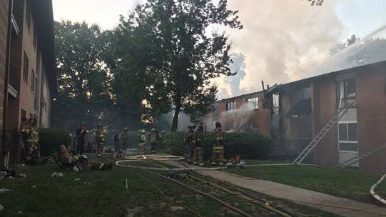 59 People Displaced After 2 Alarm Fire In Oxon Hill