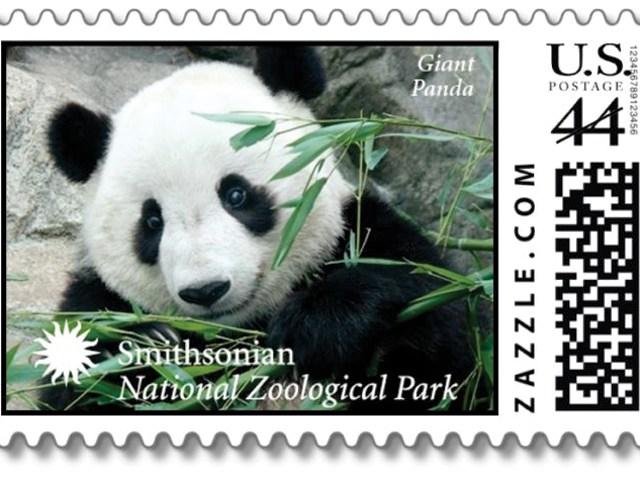 National Zoo panda stamp