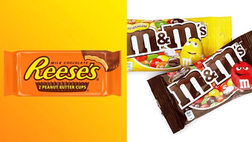 peanut butter cups m&ms