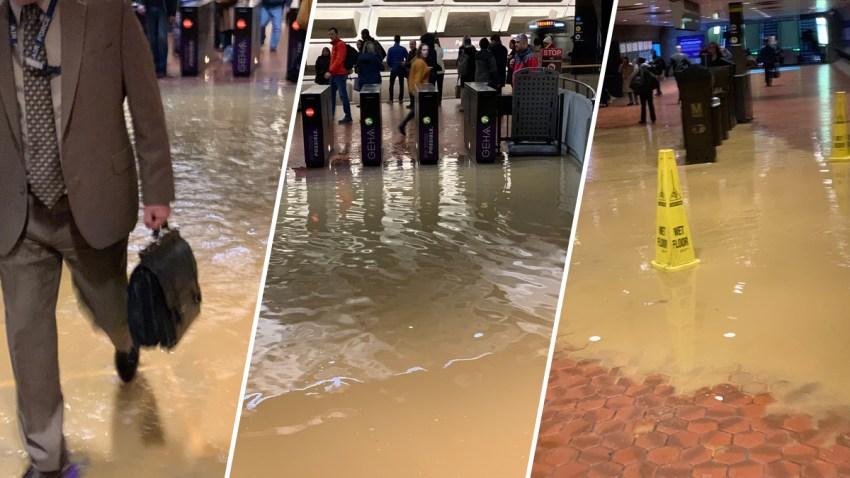 Pentagon Metro Station Flooded After Water Main Break Nbc4