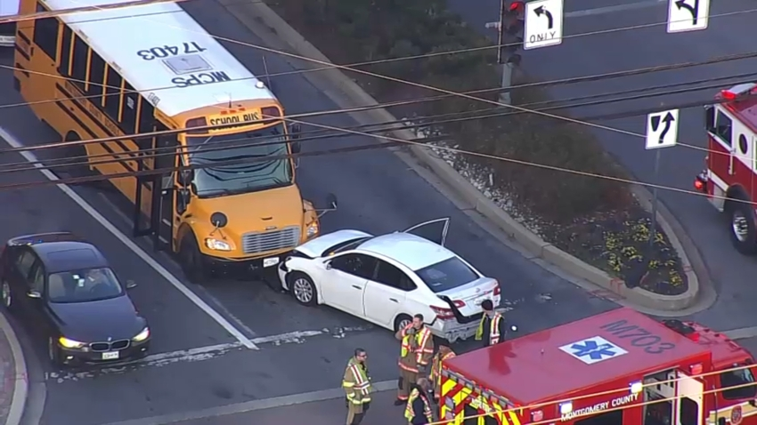 a crash involving a school bus and a car