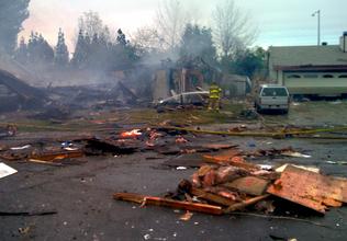 Home explodes